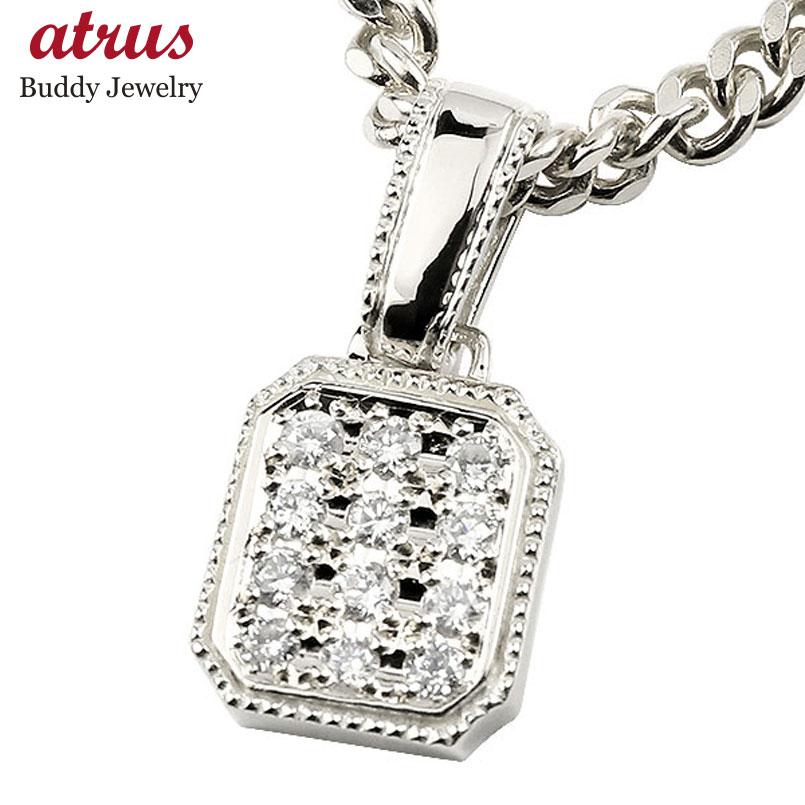 新作 喜平用 メンズ ネックレス トップ ダイヤモンド ホワイトゴールドK18 ペンダント キヘイ 18金 ダイヤ 男性用 エンゲージリングのお返し