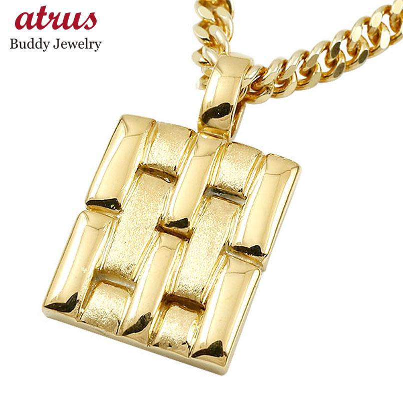 ネックレス メンズ 喜平用 イエローゴールドk10 メタルバンド 時計 ペンダント 10金 つや消し 男性用 地金 人気 父の日
