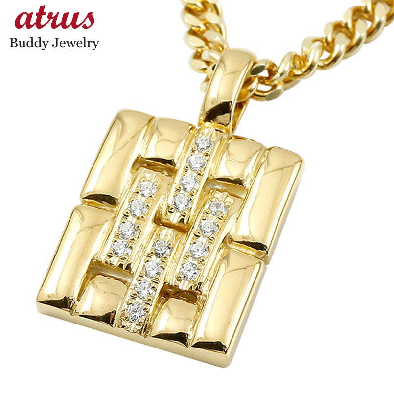 ネックレス メンズ 喜平用 ダイヤモンド イエローゴールドk10 メタルバンド 時計 ペンダント 10金 男性用 ダイヤ 人気 父の日