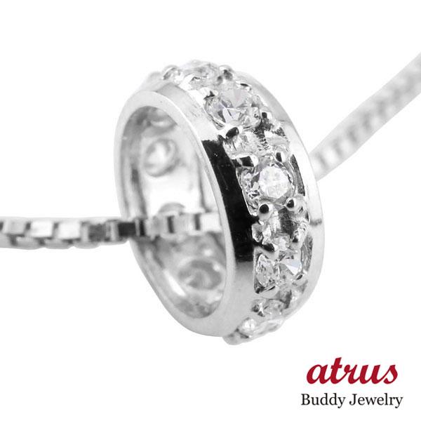 ネックレス メンズ ダイヤモンド ネックレス ペンダントプラチナ900 ダイヤリングネックレス エタニティー プラチナ チェーン 人気 あす楽