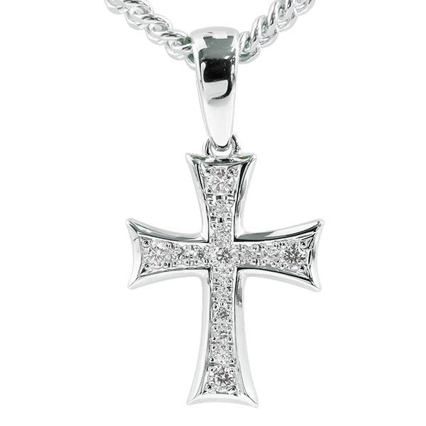 喜平用 メンズ ネックレス クロス キュービックジルコニア シルバー925 ペンダント 十字架 sv925 シンプル 男性用 キヘイチェーン 人気