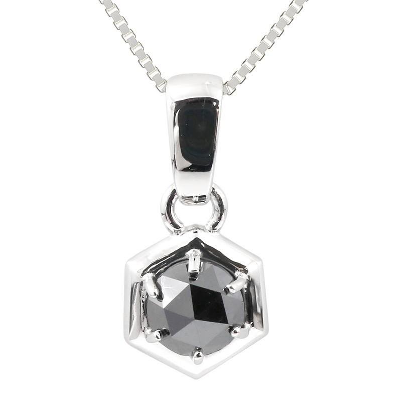 メンズ プラチナネックレス ブラックダイヤモンド 1ct ダイヤ ペンダント pt900 男性用 人気 チェーン トレジャーハンター 送料無料
