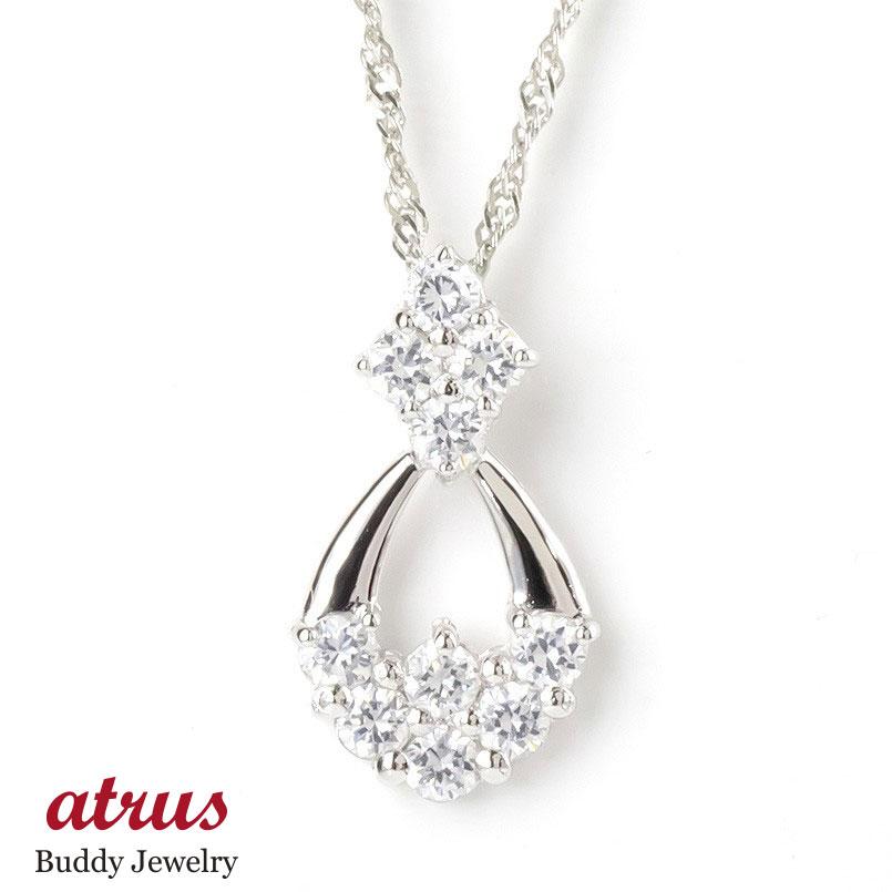 プラチナ ネックレス トップ ダイヤモンド ティアドロップ レディース pt900 ペンダント ダイヤ 雫 つゆ型 涙型 女性 大人 送料無料