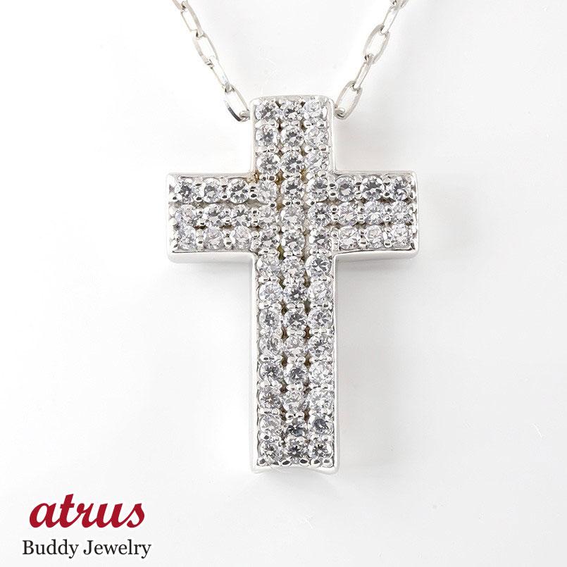 プラチナ ネックレス トップ ダイヤモンド クロス メンズ pt900 ペンダント ダイヤ 十字架 男性 大人 送料無料