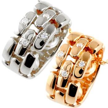 ペアネックレス トップ ダイヤモンド ペンダント ピンクゴールドk18 ホワイトゴールドk18 ダイヤ リングネックレス トップ 18金 チェーン 人気 ストレート カップル 送料無料