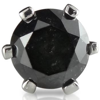 ピアス メンズ プラチナ 片耳ピアス プラチナ ブラックダイヤモンド 一粒ダイヤモンド 大粒ダイヤモンドダイヤ 男性用