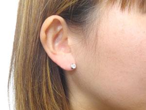 ピアス メンズ 鑑定書付 片耳ピアス ダイヤモンド ピアス 一粒 ホワイトゴールドk18 ダイヤモンド 0.25ct VSクラス ダイヤ 18金 宝石 18k