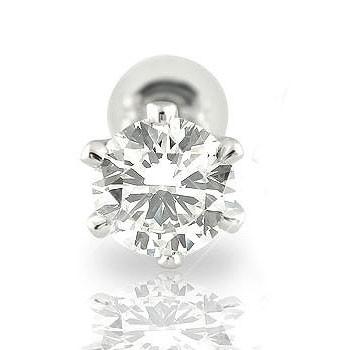 ピアス メンズ 鑑定書付 片耳ピアス ダイヤモンド ピアス 一粒 ホワイトゴールドk18 ダイヤモンド 0.50ct SIクラス ダイヤ 18金 宝石 18k 父の日