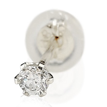 メンズ ピアス ダイヤモンド プラチナ 人気 シンプル 片耳ピアス 男性用 おすすめ 父の日