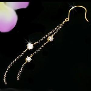 ピアス メンズ 片耳ピアスチェーンピアスダイヤモンド イエローゴールドk18 ロングピアス ピアスゴールドダイヤモンド 片方の片側ピアス 18金ダイヤ 宝石 18k