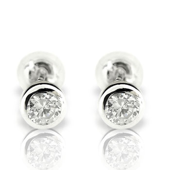 ピアス メンズ ダイヤモンド ピアスホワイトゴールドk18ダイヤモンド 0.3ctスタッドピアス 18金ダイヤ 男性用 宝石 送料無料 父の日