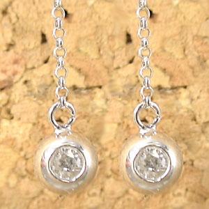ピアス メンズ ダイヤモンドピアス 一粒;ホワイトゴールドk18ダイヤモンド 0 10ct丸玉フックピアス 18金 天然石ダイヤ 男性用 宝石 ゆれるピアスhQCrdsxt
