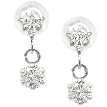 ピアス メンズ ダイヤモンドピアスホワイトゴールドk18ダイヤモンド 0.28ct 18金 天然石ダイヤ 男性用 宝石 送料無料 父の日