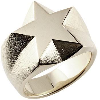メンズ 印台リング 星 スター 幅広 指輪 シルバーリング ピンキーリングストレート 男性用 贈り物 誕生日プレゼント ギフト エンゲージリングのお返し 送料無料