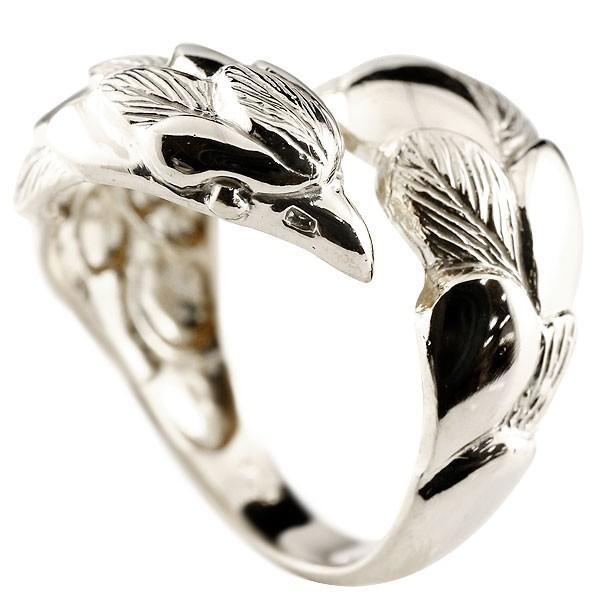 フェザー 羽 メンズ イーグル プラチナリング 鷹 フェザー 幅広 指輪 フリーサイズ ピンキーリング 地金 pt900 男性用 贈り物 誕生日プレゼント ギフト エンゲージリングのお返し 送料無料