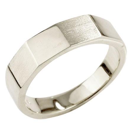 メンズ プラチナリング 指輪 カットリング ピンキーリング 地金 つや消し ストレート pt900 男性用 送料無料