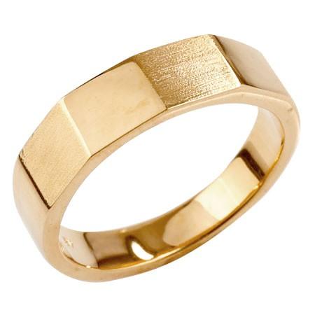 メンズ カットリング 指輪 ピンクゴールドk18 ピンキーリング 地金 つや消し ストレート 18金 男性用 送料無料
