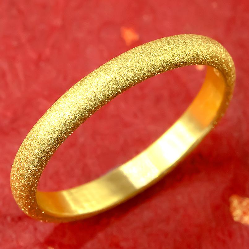 純金 24金 ゴールド k24 指輪 ピンキーリング 地金リング 21-25号 ストレート メンズ