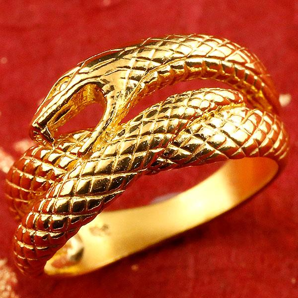 純金 メンズ リング 蛇 ヘビ 指輪 幅広 k24 24金 ピンキーリング スネークデザイン 男性用 贈り物 誕生日プレゼント ギフト ファッション エンゲージリングのお返し