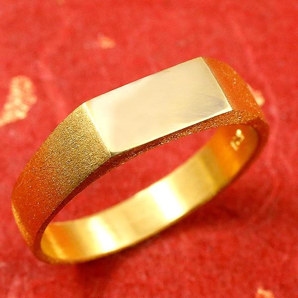 純金 メンズ リング 印台 指輪 幅広 k24 24金 ピンキーリング 男性用 贈り物 誕生日プレゼント ギフト ファッション エンゲージリングのお返し