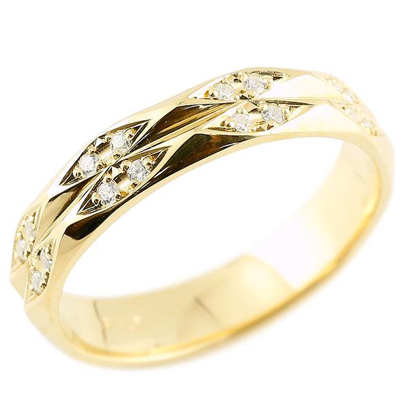 メンズ 指輪 ダイヤモンド イエローゴールドk10 ダイヤモンドリング 指輪 婚約指輪 カットリング 菱形 10金 宝石 贈り物 誕生日プレゼント ギフト エンゲージリングのお返し