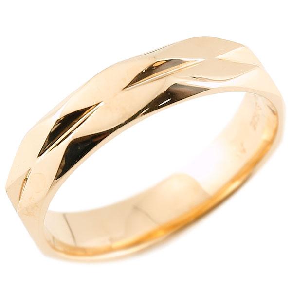 メンズ 指輪 ピンクゴールドk18 ダイヤ柄 リング 指輪 婚約指輪 カットリング 菱形 地金 18金 贈り物 誕生日プレゼント ギフト エンゲージリングのお返し