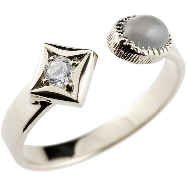メンズ リング プラチナ グレームーンストーン リング 指輪 婚約指輪 pt900 ダイヤ柄 菱形 フリーサイズ 男性用 コントラッド 東京 贈り物 誕生日プレゼント ギフト エンゲージリングのお返し
