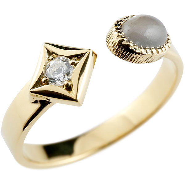 あなたを輝かせるシンボルリング 送料無料 メンズ リング グレームーンストーン イエローゴールドk18 リング 指輪 婚約指輪 18金 ダイヤ柄 菱形 フリーサイズ 男性用 コントラッド 東京 贈り物 誕生日プレゼント ギフト エンゲージリングのお返し