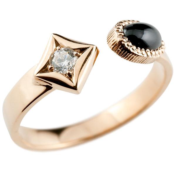 あなたを輝かせるシンボルリング 送料無料 メンズ リング オニキス ピンクゴールドk18 リング 指輪 婚約指輪 18金 ダイヤ柄 菱形 フリーサイズ 男性用 コントラッド 東京 贈り物 誕生日プレゼント ギフト エンゲージリングのお返し