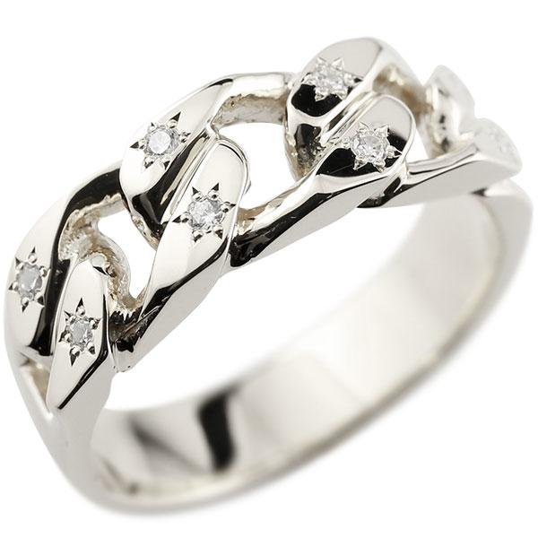 【送料無料】メンズ 喜平リング ダイヤモンド ホワイトゴールドK18 リング 指輪 婚約指輪 18金 キヘイ 鎖 ダイヤ 男性用 コントラッド 東京 贈り物 誕生日プレゼント ギフト エンゲージリングのお返し 父の日