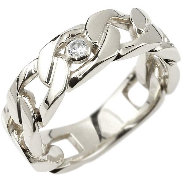 メンズ 喜平 リング ダイヤモンド シルバー925 喜平リング 指輪 sv925 キヘイ 鎖 ダイヤ 一粒 幅広 男性用 エンゲージリングのお返し 父の日