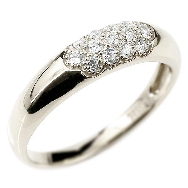 メンズ ダイヤモンドリング パヴェ シルバー925 リング 指輪 ピンキーリング 男性用 ストレート エンゲージリングのお返し