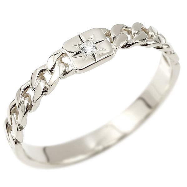 メンズ ダイヤモンドリング ホワイトゴールドk18 喜平リング 指輪 ダイヤ 一粒 ストレート 18金 男性用 コントラッド 東京 エンゲージリングのお返し 父の日