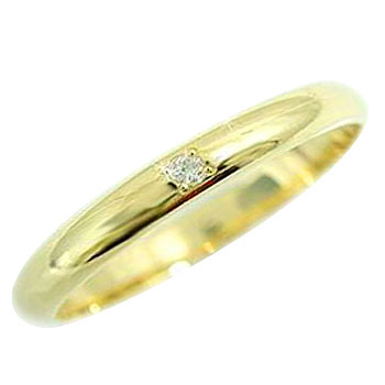 メンズリング 人気 イエローゴールドk18 ダイヤモンド 指輪 18金ピンキーリング ダイヤ ストレート 2.3 男性用 送料無料