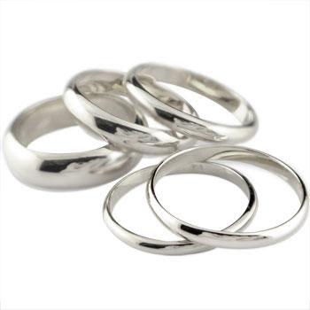 メンズリング 人気 プラチナ リング 指輪 甲丸ピンキーリング ストレート 2.3 男性用 送料無料