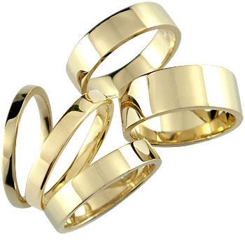 メンズリング 人気 指輪 イエローゴールドk18 18金ピンキーリング ストレート 男性用 送料無料