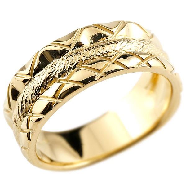 メンズ リング イエローゴールドk18 指輪 幅広リング 地金リング 18金 送料無料 父の日