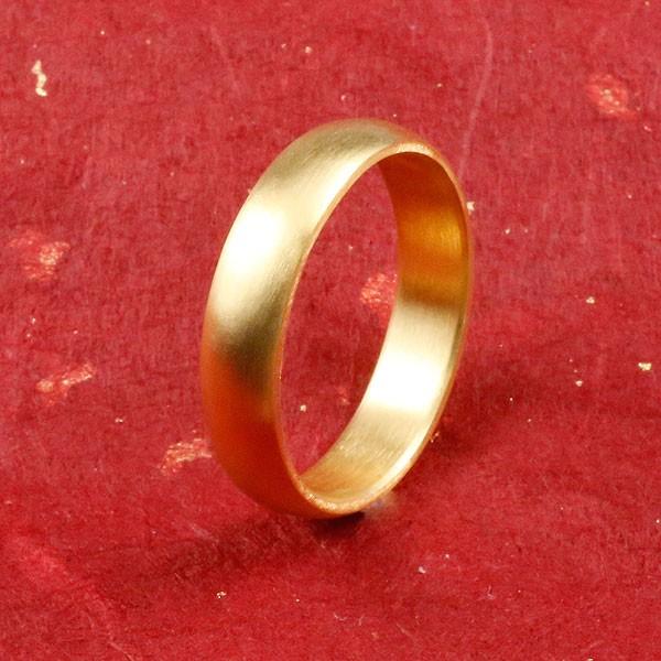 純金 24金 ゴールド k24 幅広 指輪 ピンキーリング 婚約指輪 エンゲージリング ホーニング加工 つや消し 地金リング 1-10号 ストレート メンズ 送料無料 父の日