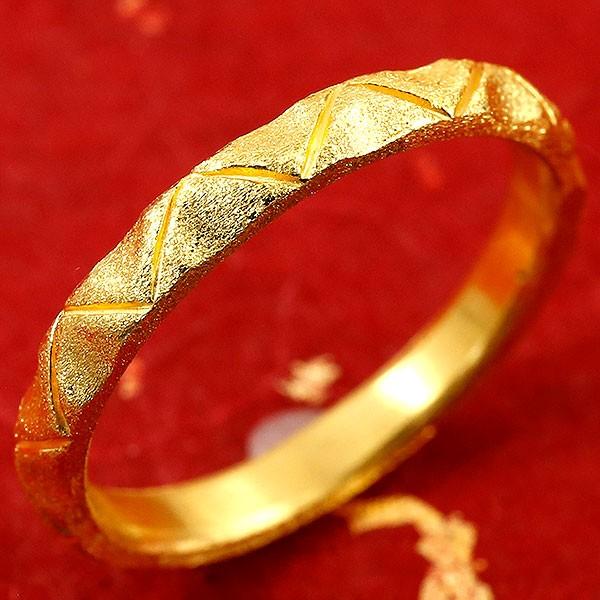 純金 メンズ 24金 ゴールド k24 指輪 ピンキーリング ホーニング加工 婚約指輪 エンゲージリング 地金リング 22-26号 ストレート 送料無料