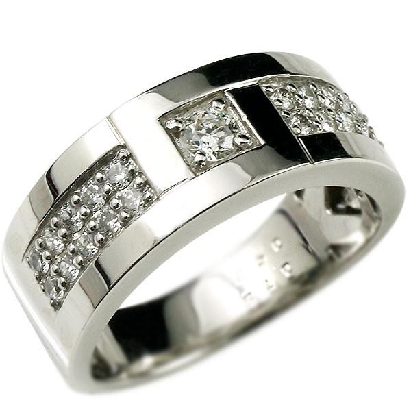 メンズ ダイヤモンド プラチナリング 指輪 幅広 ダイヤ pt900 ダイヤモンドリング 男性用 送料無料 父の日
