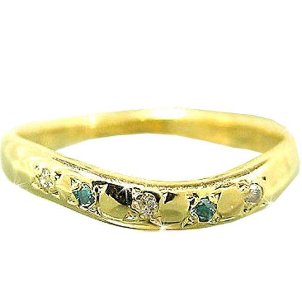 メンズリング 人気 ダイヤモンド イエローゴールドK18 指輪 18金ピンキーリング ダイヤ ストレート 男性用 送料無料