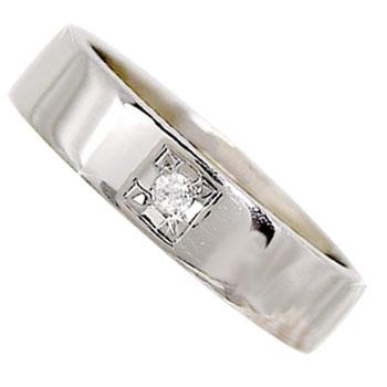 メンズリング 人気 ダイヤモンド プラチナリング ダイヤモンド0.03ct 指輪ピンキーリング ダイヤ ストレート 男性用 宝石 送料無料 父の日
