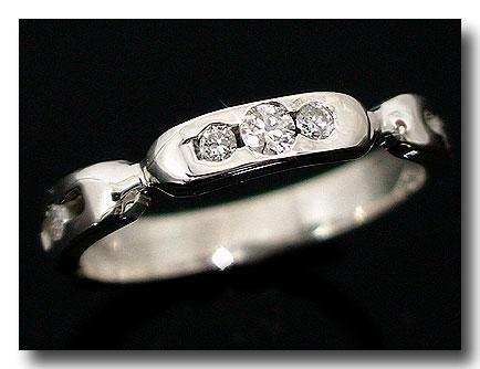 メンズリング 人気 ダイヤモンド リング ホワイトゴールドK18 指輪 ダイヤモンド 18金ピンキーリング ダイヤ ストレート 男性用 送料無料
