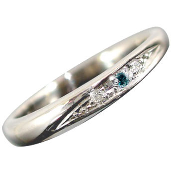 メンズリング 人気 ダイヤモンド リング ホワイトゴールドK18 指輪 ダイヤモンド 0.03ct 18金ピンキーリング ダイヤ ストレート 男性用 宝石 送料無料