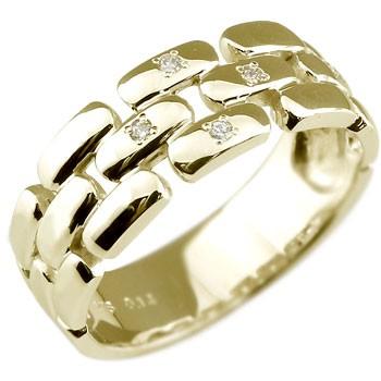 メンズリング 人気 指輪 ダイヤモンド リング K18 ダイヤモンド イエローゴールド 18金ピンキーリング ダイヤ ストレート 男性用 宝石 送料無料