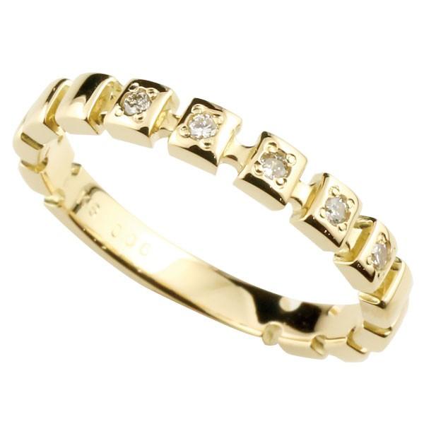 メンズリング 人気 リングダイヤモンド リング イエローゴールドk18 指輪 K18 ダイヤモンド 18金ピンキーリング ダイヤ ストレート 男性用 送料無料