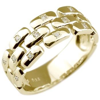 メンズリング 人気 リング指輪 ダイヤモンド リング イエローゴールドk18 結婚指輪 18金ピンキーリング ダイヤ ストレート 男性用 宝石 送料無料 父の日