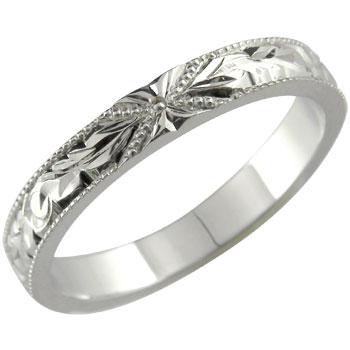 永遠に輝き続ける深彫りのハワイアンジュエリー ハワイアンジュエリー メンズ ハワイアンリング 指輪 シルバー925 SV925 プルメリア 花 スクロール 波 ハワイストレート 男性用 送料無料