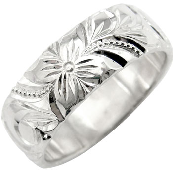 永遠に輝き続ける深彫りのハワイアンジュエリー ハワイアンジュエリー メンズ リング プラチナ 指輪ストレート 男性用 送料無料