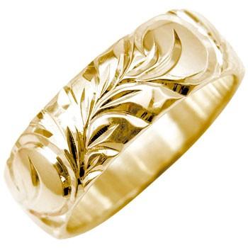 永遠に輝き続ける深彫りのハワイアンジュエリー ハワイアンジュエリー メンズ ハワイアンリング 指輪 ピンクゴールドK18 K18PG メンズジュエリー 18金ストレート 男性用 送料無料
